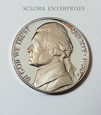 1980 S Jefferson *proof* Nickel  **free Shipping**