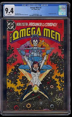 OMEGA MEN #3 CGC 9.4  1st LOBO APPEARANCE 1983 MINT WHITE PAGES   COMIC KINGS