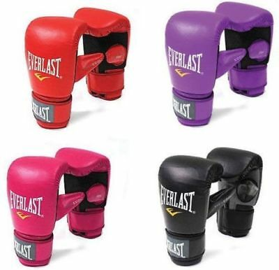 Everlast Boxing Gloves Bag Mitts Black Red Pink Purple