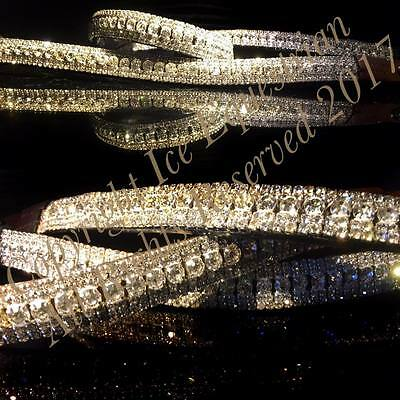 "Bling Equestrian 5 Row Crystal U Shaped Dressage ICE Browband. Sizes 13""-17"""