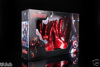 MARVEL Avengers Age of Ultron IRON MAN Glove LED Light for Cosplay