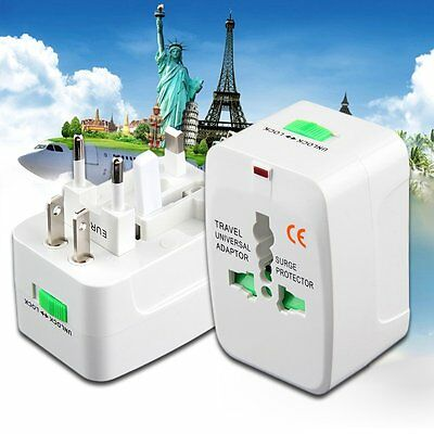 All in One International Travel Power Charger Universal Adapter AU/UK/US/EU MC