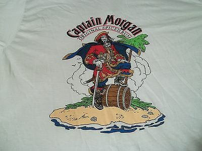 New NOS True Vtg CAPTAIN MORGAN Spiced Rum XL 80s LIQUOR PARTY Deadstock T-SHIRT