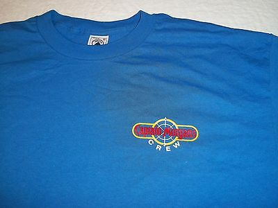 BRAND NEW True Vtg CAPTAIN MORGAN'S CREW Spiced Rum LIQUOR Party XL Blue T-SHIRT