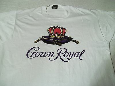 NEW True Vtg CROWN ROYAL Seagram's 7 Whiskey SCREEN STARS Party XL Booze T-SHIRT