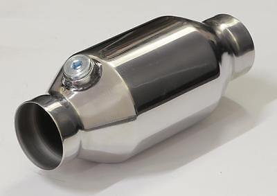 """High Flow Catalytic Converter 2.5"""" Bullet Style 100 Cell Also Suitable For 4Wd"""