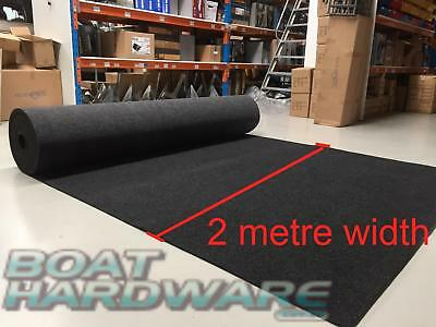 Marine Boat Carpet - 4 Seasons Grey Charcoal 2mtr Wide Roll - Sold per mtr