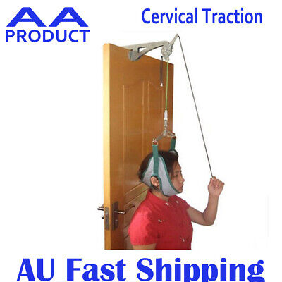 Over Door Hanging Neck Cervical Traction Device Stretch Gear Brace Complete Set