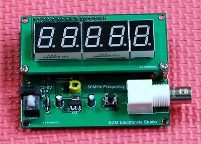 New High Precision 1Hz to 50MHz Frequncy Counter Red LED Display BNC 7-9VDC
