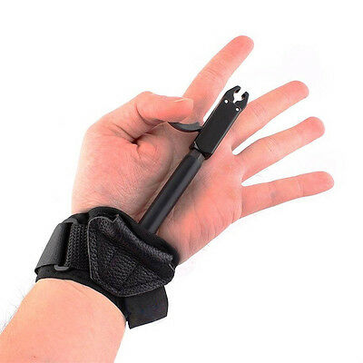 Hunting Adjustable Release Aid for Compound Bow Archery w/ Buckle Wrist Strap
