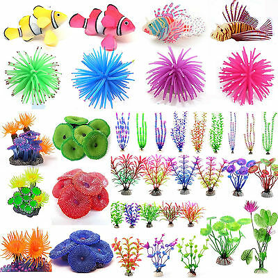 Aquarium Fish Tank Landscape Glow Simulation Animal Plants Ornaments Decorations