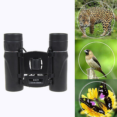 8x21 Mini Compact Binoculars Portable Telescopes Foldable Dustproof Night Vision