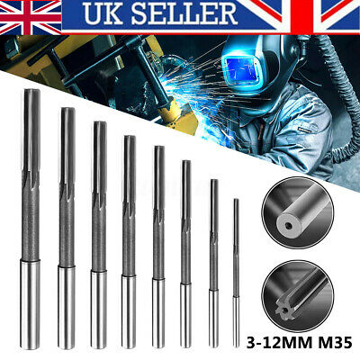 Set Of 3/4/5/6/7/8/9/10mm Straight Shank HSS Chucking Machine Reamer Drill Bit