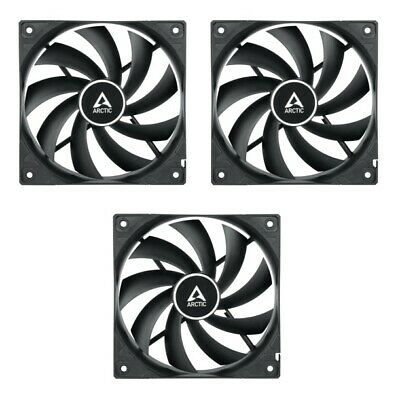 3 Pack of Arctic F12 PWM 120mm PC Case Fan, High Performance