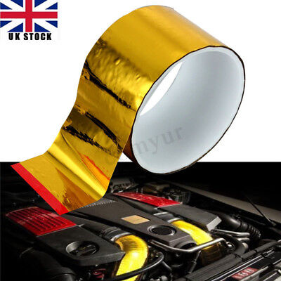 2''x15'' Gold Self Adhesive Reflective Roll Tape Heat Protection Shield Wrap UK
