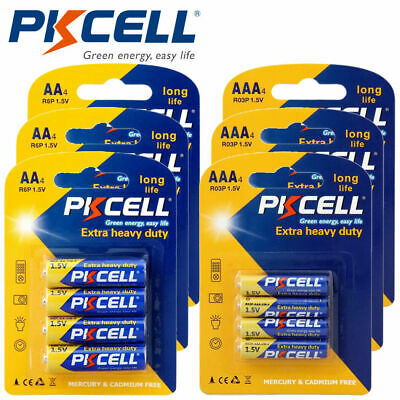 12 AAA R03P + 12 AA 1.5V Super Heavy Duty Carbon Batteries For Toys PKCELL