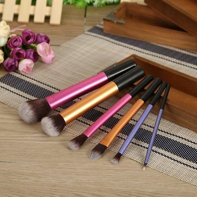 6pcs/Set Powder Pro Techniques Cosmetic Makeup Blush Brushes Foundation Tools Q#