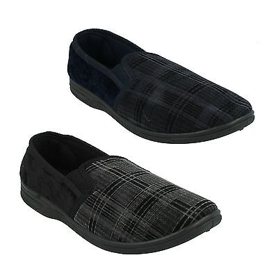 Mens Quality M.s20 Slip On Moccasins Indoor Twin Gusset Shoes Round Toe Slippers