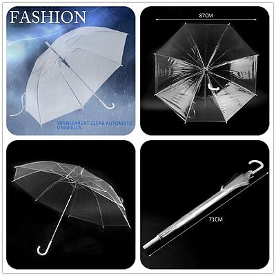 Fashion Transparent Clear Automatic Umbrella Parasol For Wedding Party Favor UR