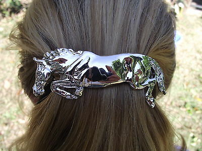 HORSE JEWELRY Barrette Pewter Jumper~~ AUTHENTIC FROM ARTIST ! Zimmer design