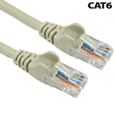 1m - 50M Cat 6e Grau RJ45 Kabel Cat6 Meter UTP Internet-messgerät Großhandel UK