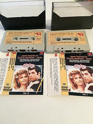 Grease - Original Movie Soundtrack 2 MC cassette Tape Made In Italy 1978