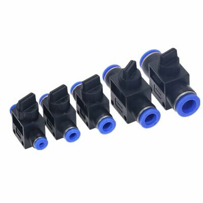 New  Pneumatic Ball Valve Push In Fittings Connectorsr Hose Tube 4mm - 12mm