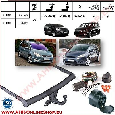 TOWBAR with Electrics 13pin Ford Galaxy / S-Max 2006- Swan Neck