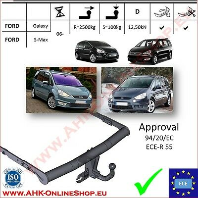 TOWBAR Ford Galaxy / S-Max 2006- Swan Neck TOP Quality