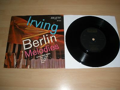 """Irving Berlin Melodies 7"""" Vinyl Card P/s Connee Boswell Bravo Br-351 1965 Ex """""""