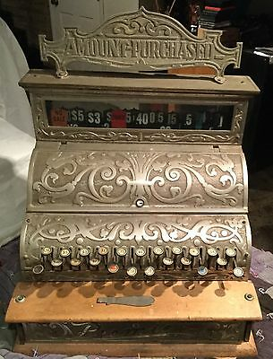 PREMIER MICHIGAN NCR RARE ANTIQUE CASH REGISTER ca. 1890s