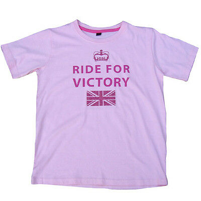 Horses With Attitude Ride For Victory T-Shirt - Junior T-Shirt - Pink or Blue