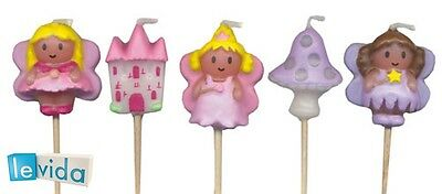 Fairytale Party Candles - Girls Fairy Themed Birthday Candles (LCC047)