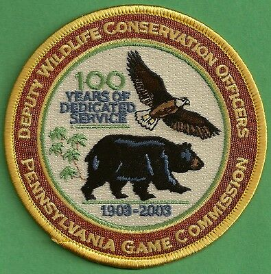Pa Pennsylvania Game Commission 100Yr Deputy Wildlife Conservation Officer Patch