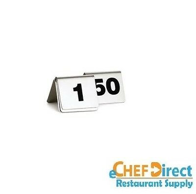 "2-1/2"" X 2"" Number Tents 1-50 Stainless Steel Numbers FREE SHIPPING!!!"