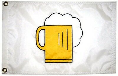"12""x18"" Beer Mug Flag Hand Sewn in the USA Best Quality"