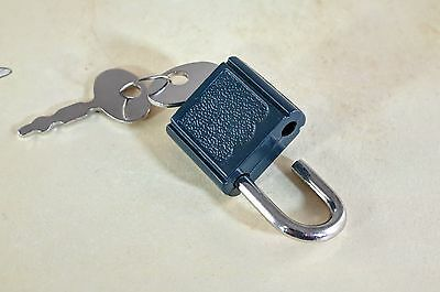 Lot of 7 - Mini  Padlock Tiny Box Locks With keys - Green Color