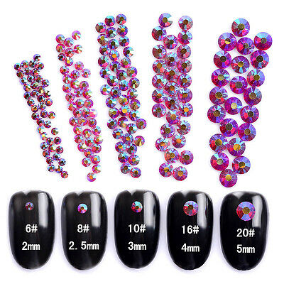 1 Pack Red Resin Studs 3D 2mm-5mm Nail Art Rhinestone Charms DIY Decoration