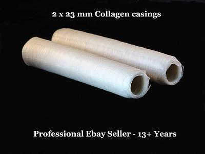 Sausage Casings Collagen - Two x 23 mm Butcher Quality & Access to 7 E- Manuals