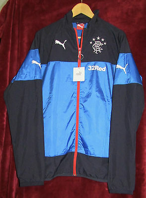 NEW Glasgow Rangers FC Puma Team Woven Jacket - XL
