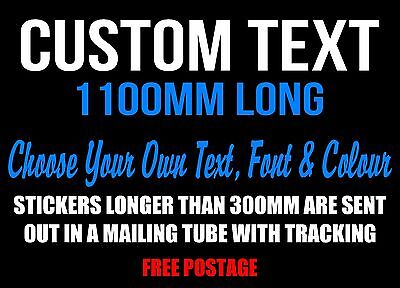 Custom Sticker Decal Personalised 1100mm Long Vinyl Cut Made Lettering Car Text