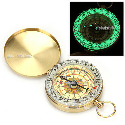 Portable Luminous Camping Compass Classic Pocket Watch Bronzing Outdoor Hiking