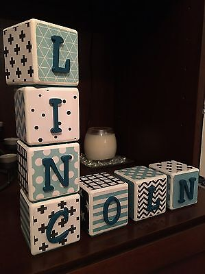 Custom Baby Name Blocks - Nursery - Baby Shower Gifts ***PRICE IS PER BLOCK***