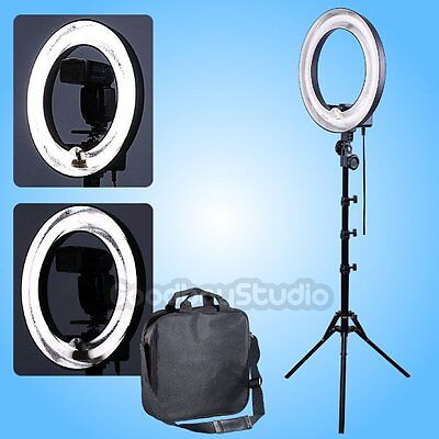 400W 5500K 34cm Dimmable Photo Video Fluorescent Ring Light Lamp + 185cm Stand
