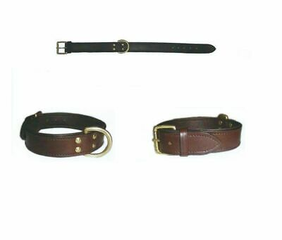 Thick Leather Dog Collars with Super Soft Padding -Small & Giant Breeds XS - XXL