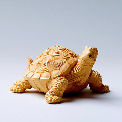 TL011 --- 8.3*6.3*4.5 CM Carved Boxwood Carving - Auspicious Turtle Tortoise