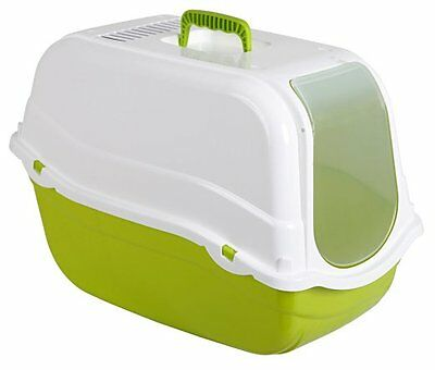 Kerbl Minka Cat Litter Box , 57 x 39 x 41 cm, Green/ White