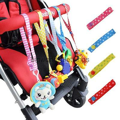 Stroller Strap Pacifier Holder Baby Toy Straps Belt with Button Clasps Anti Lost
