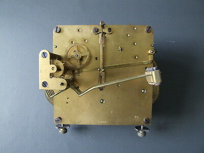 Vintage chiming mantel clock movement for repair or spares or steampunk
