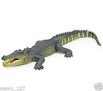 Original Animal Model Saltwater Crocodile Figurine Collectible Figure Kids Toy